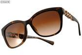 COACH 太陽眼鏡 COS8156QF 512013 (琥珀-金) 氣質簡約皮革款 # 金橘眼鏡