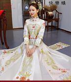 中式婚紗婚服紅色新娘中式復古敬酒服旗袍禮服