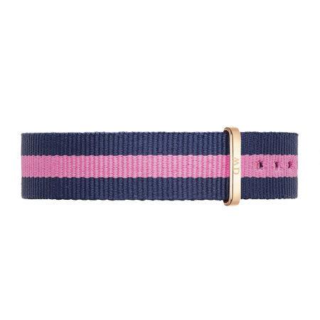 【公司貨】DW Daniel Wellington 藍粉紅帆布錶帶 尼龍錶帶 玫瑰金扣 17mm DW00200077錶帶 現貨!