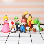 18款超級瑪利歐公仔 遊戲人物玩具 蛋糕擺飾 手辦 玩偶