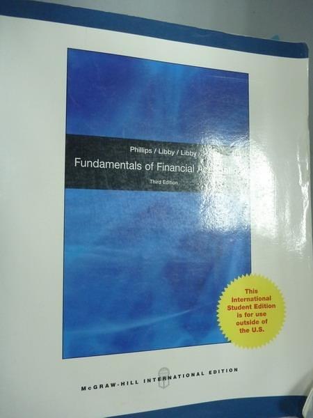 【書寶二手書T3/大學商學_PMM】Fundamentals of Financial Accounting_Phill
