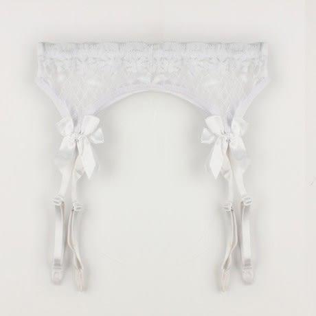 天使衣裳 C162 性感蝴蝶結吊帶襪組 含絲襪/網襪 情趣內衣配件
