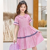 吊帶裙 女童夏季洋裝新款純棉短袖裙子女孩韓版洋氣荷葉邊公主裙