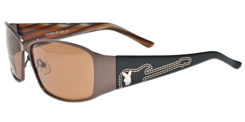 Playboy -時尚太陽眼鏡(咖啡金)