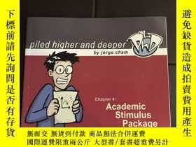 二手書博民逛書店英文版漫畫罕見Academic Stimulus Package