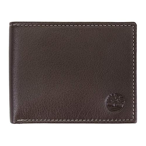 Timberland-時尚Blix雙折皮革皮夾(棕色)
