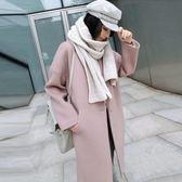 毛呢外套女中長款韓版2018新款秋冬款短款加厚呢子大衣學生「爆米花」