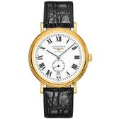 LONGINES浪琴 Presence 小秒針機械錶-40mm L49052112