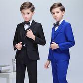 售完即止-兒童禮服三件套帥氣男童主持人鋼琴演出服小西服套裝庫存清出(5-21T)