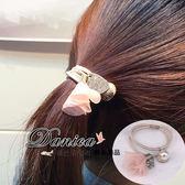 髮束 現貨 韓國熱賣甜美氣質手作飄逸花朵貝殼珍珠吊飾髮束(6色) S7770 Danica 韓系飾品 韓國連線