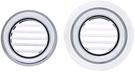 【麗室衛浴】砌磚.預鑄式泡湯池專用圓形平貼 崁入式 溢水口 尺寸 直徑7.1cm