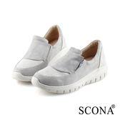 SCONA 蘇格南 輕量舒適側拉休閒鞋 銀色 7293-2