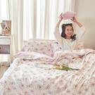 床包 / 雙人【花花格格】含兩件枕套 100%精梳棉 戀家小舖台灣製AAS201