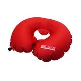 Outliving U型自動充氣枕 - 紅色
