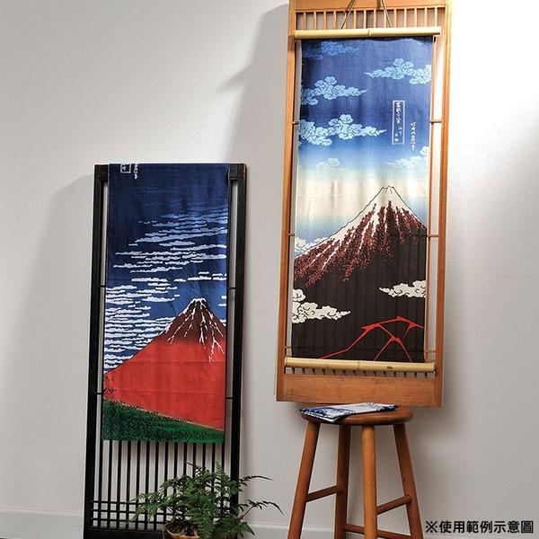 丸真 日本製100%純棉毛巾 葛飾北齋系列 山下白雨 藍紅_RS61760