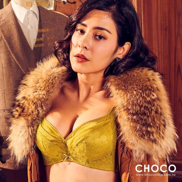 Choco Shop-艾蕾黛兒‧超柔軟無鋼圈集中托高唯美內衣(黃色) 70B~85D