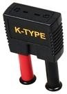 TECPEL 泰菱 4mm公香蕉頭 轉接 K TYPE熱電偶母頭 三用電表 轉 K TYPE溫度測線 TA-100