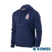 K-SWISS Hood Sweatshirt SNOOPY連帽上衣-男-深藍