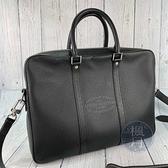 BRAND楓月 LOUIS VUITTON LV M30365 黑色 皮革 TAIGA PDV 手提包 側背包 公事包