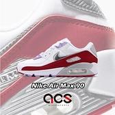 【五折特賣】Nike 休閒鞋 Wmns Air Max 90 白 紅 女鞋 漆皮設計 氣墊 運動鞋 【ACS】 CU3004-176