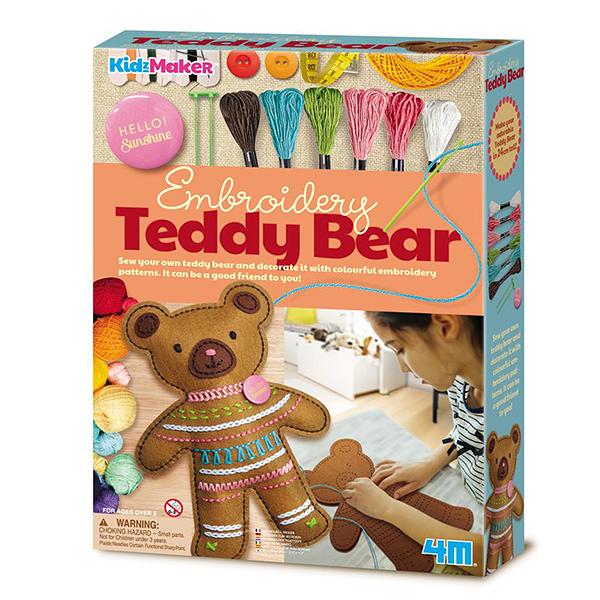 【4M】美勞創作DIY 暖心泰迪熊 Embroidery Teddy Bear 00-04724