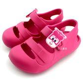 《7+1童鞋》SUPER WINGS 蒂蒂 直昇機 飛機 護趾 防水 輕量 休閒涼鞋 D175 桃色