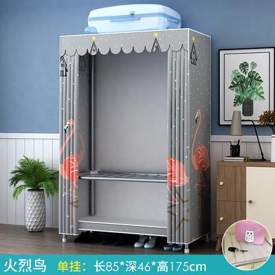 簡易布藝衣櫃出租房家用臥室櫃子組裝布衣櫃現代簡約收納掛衣櫥g 「免運」