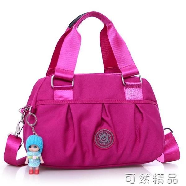 新款潮尼龍牛津帆布包布包女包手提包休閒單肩斜跨女士包包斜背包 可然精品