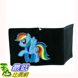 [106美國直購] 彩虹小馬皮夾 My Little Pony Rainbow Dash Tri-fold Wallet with Chain Alternative Clothing