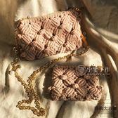 手工編織包包材料包 貝殼包鏈條包手挽包一大一小【時尚大衣櫥】