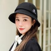 造型帽 圓臉適合的帽子漁夫帽女秋日系秋冬季韓版百搭可愛盆帽顯臉小