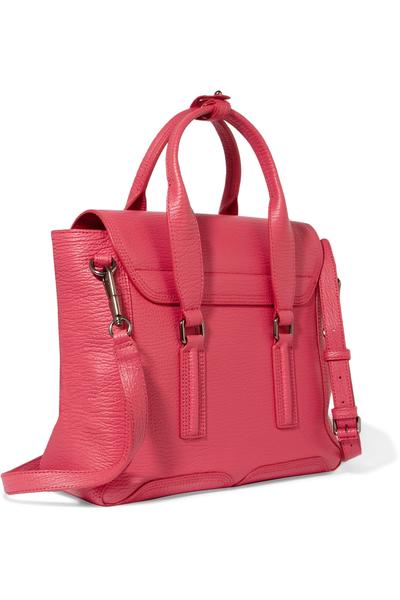 3.1 Phillip Lim Pashli 中款 壓紋牛皮 手提包 肩斜背包 兩用包 亮粉色