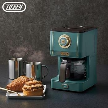 (兩色任選) 日本Toffy Drip Coffee Maker 咖啡機 板岩綠 灰杏白 1年保固 3種濃度選擇