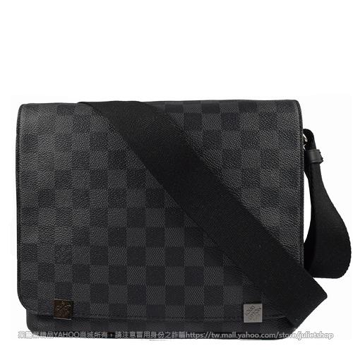 Louis Vuitton LV N41028 DISTRICT PM 黑棋盤格紋斜背包 全新 現貨【茱麗葉精品】