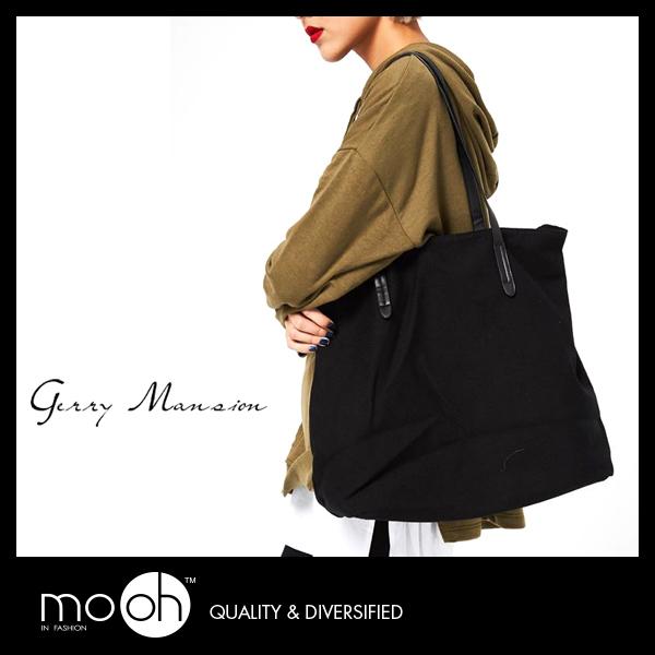 肩背帆布包 托特包 手提包 韓國簡約百搭實用大方包帆布包 mo.oh (包包配件)