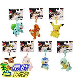 [美國直購] 神奇寶貝 精靈寶可夢周邊 Original Pokemon Plush Toy Set of 7 Includes: Pikachu Eevee Charmander Squirtle