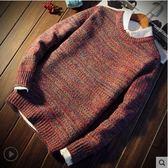 毛衣秋冬季男士毛衣男韓版寬鬆針織衫青少年圓領外套加厚打底衫潮流時光之旅