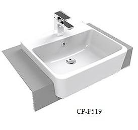 【麗室衛浴】 美標 American Standard  半崁方盆 CP-F519 目錄及說明