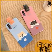 立體柴犬公仔iPhone11 SE手機殼XS MAX保護套XR iPhone i7手機殼 iPhone8 i6s plus 保護殼卡通柴犬軟殼