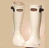 中筒雨靴-簡潔防水帥氣防滑女雨鞋5s71[時尚巴黎]