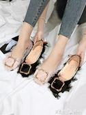 社會女豆豆鞋春季新款韓版百搭單鞋女平底溫柔鞋仙女網紅女鞋 潔思米