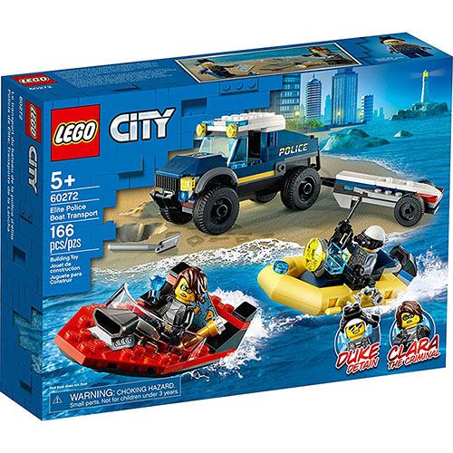 樂高積木 LEGO《 LT60272》City 城市系列 - Elite Police Boat Transport / JOYBUS玩具百貨