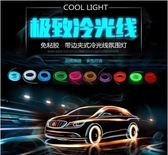 帶邊汽車LED冷光線車內氛圍燈條夾式發光線氣氛改裝飾燈帶【潮咖地帶】