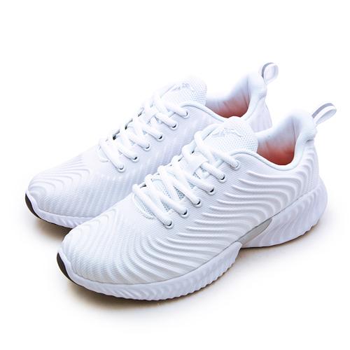 LIKA夢 GOODYEAR 固特異專業輕量緩震慢跑鞋 波動美學系列 白色學生鞋 白 93399 男