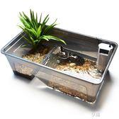 魚缸 烏龜缸帶曬台大型別墅水陸塑料透明龜盆巴西草龜鱷龜養龜的專用缸 ATF 享購