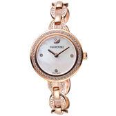 施華洛世奇SWAROVSKI璀璨光輝鍊式腕錶-玫瑰金色   5253329
