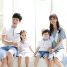 韓版寬鬆大V荷葉短袖上衣親子裝(女大人)