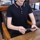 2021夏季男士短袖t恤純棉上衣寬鬆潮流半袖體恤休閒翻領polo衫裝「時尚彩紅屋」