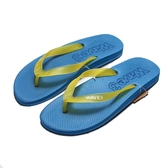 WAVE3 藍黃 果凍 夾腳 人字拖  海灘 拖鞋 男生 (布魯克林) 16100103