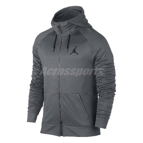 Nike 連帽外套 Jordan 360 Fleece Training Hoodie 帽夾 夾克 Air 喬丹 男款 灰 【PUMP306】 808695-065